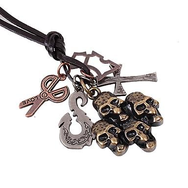 levne Dámské šperky-Pánské Náhrdelníky s přívěšky Haç Lebka Nůžky Rokové Gothic Módní Slitina Bronzová Náhrdelníky Šperky 1 Pro Street Dovolená