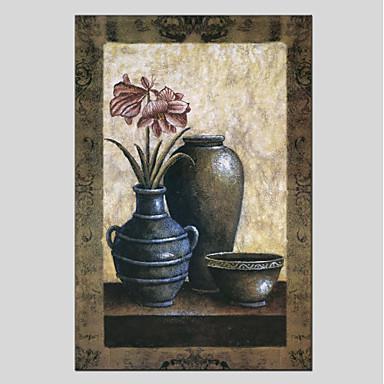 Hang målad oljemålning HANDMÅLAD - Stilleben Moderna Duk   Sträckt kanfas  6427339 2019 –  69.35 4230aaa547872