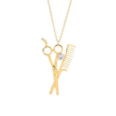 levne Dámské šperky-Pánské Dámské Náhrdelníky s přívěšky Nůžky Asijský styl Módní Kov Slitina Zlatá Stříbrná Růžové zlato Náhrdelníky Šperky 1 Pro Nový Rok Miláček