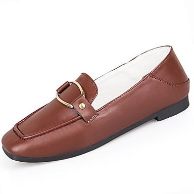 Mujer Zapatos Cuero de Napa / Cuero Otoño Confort Zapatos de taco bajo y Slip-On Tacón Bajo Negro / Wine qLEaPWEj