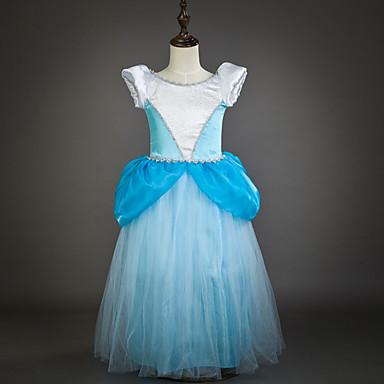 Πριγκίπισσα Cinderella Παραμυθιού Φορέματα Κοστούμι πάρτι Παιδικά Μεσοφόρι Βραδινής τουαλέτας Mesh Γενέθλια Χριστούγεννα Μασκάρεμα Γιορτές / Διακοπές Τούλι Μπλε Αποκριάτικα Κοστούμια