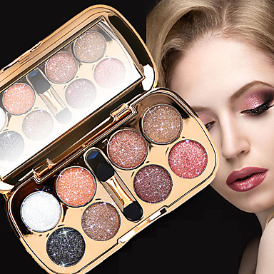 8 Colors Eyeshadow Palette Powders Shimmer EyeShadow Matte Shimmer Formaldehyde Free Glitter Shine smoky Convenient Daily Makeup Halloween Makeup Party Makeup Cosmetic Gift