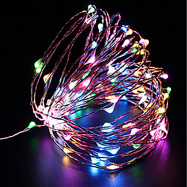 preiswerte LED-Lichter-zdm wasserdicht 10m 100 led usb 5v fairy lichterkette firefly lichter weihnachten decor christmas lights multi farbe
