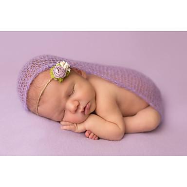 Μωρό Κοριτσίστικα Γενέθλια Μονόχρωμο Αμάνικο Βαμβάκι Σετ Ρούχων Ανθισμένο Ροζ / Χαριτωμένο