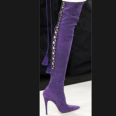 c75e3f28c06 Women's Shoes Fleece Summer Fashion Boots Boots Stiletto Heel Pointed Toe  Thigh-high Boots Black / Purple / Camel 6451641 2019 – $69.99