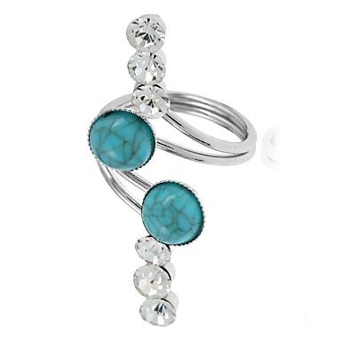 Γυναικεία Band Ring wrap ring Τιρκουάζ 1 Κόκκινο Πράσινο Προσομειωμένο διαμάντι Τυρκουάζ Κράμα Ακανόνιστος κυρίες Κλασσικό Μοντέρνα Καθημερινά Εξόδου Κοσμήματα