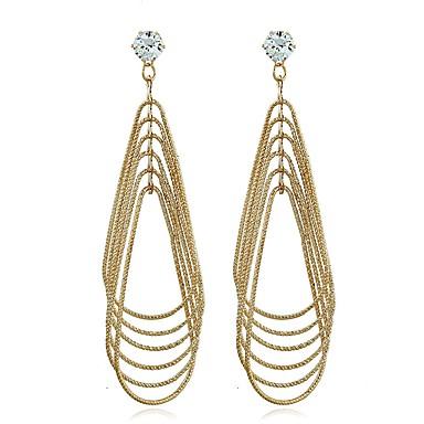 Γυναικεία Κρεμαστά Σκουλαρίκια Κρεμαστό κυρίες Κλασσικό Μοντέρνα Σκουλαρίκια Κοσμήματα Χρυσό Για Καθημερινά Εξόδου 2pcs
