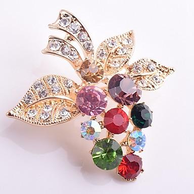 levne Dámské šperky-Dámské Syntetický diamant Brože Vínová Klasické Módní Umělé diamanty Brož Šperky Zlatá Pro Denní