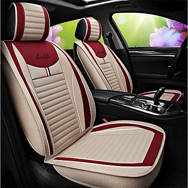 voordelige Auto-interieur accessoires-ODEER Auto-stoelhoezen Stoel hoezen Beige Liinavaatteet / Stoffen Zakelijk Voor Universeel Alle jaren Alle Modellen