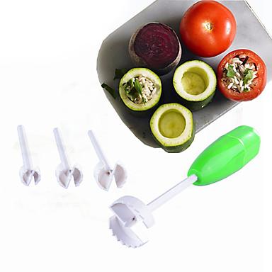 [$6.74] 4pcs Set Vegetable Spiralizer Digging Device Corer VegeDrill  Kitchen Tools