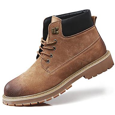 Hombre Zapatos Cuero Primavera / Otoño Confort / Botas hasta el Tobillo Botas Botines / Hasta el Tobillo Negro gcpvvV