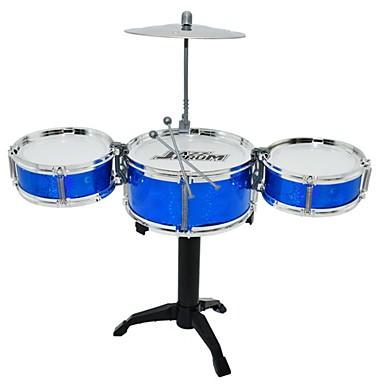 preiswerte Spielzeuginstrumente-Schlagzeugset Knete Kreisförmig Schlagzeugset Jazz Trommel Mädchen Jungen