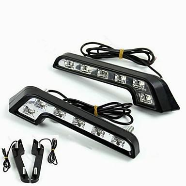 2pcs Λάμπες 6W LED Υψηλής απόδοσης 6 Φως Ημέρας For Mercedes-Benz C200 / C180 / Classic Παγκόσμιο