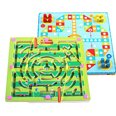 Ξύλινα παζλ Μαγνητικοί λαβύρινθοι Θέμα Παραμυθιού Στρες και το άγχος Αρωγής Μαγνητική Παιχνίδια αποσυμπίεσης Ξύλινος Παιδικά Ενηλίκων Κοριτσίστικα Παιχνίδια Δώρο 2 pcs