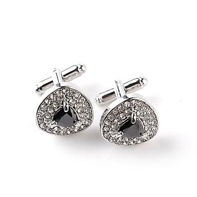 voordelige Herensieraden-Manchetknopen Drop Formeel Klassiek Modieus Kristal Broche Sieraden Wit Zwart Voor Dagelijks Formeel
