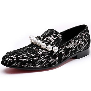 Ανδρικά Νάπα Leather Άνοιξη / Φθινόπωρο Ανατομικό / Τυπική παπούτσια Μοκασίνια & Ευκολόφορετα Μαύρο / Κόκκινο / Πάρτι & Βραδινή Έξοδος / Πάρτι & Βραδινή Έξοδος