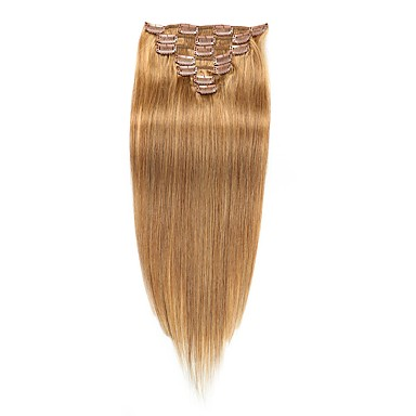 voordelige Extensions van echt haar-Febay Clip-in Extensions van echt haar Klassiek Echt haar Extentions van mensenhaar Dames Medium Brown / Bleach Blonde
