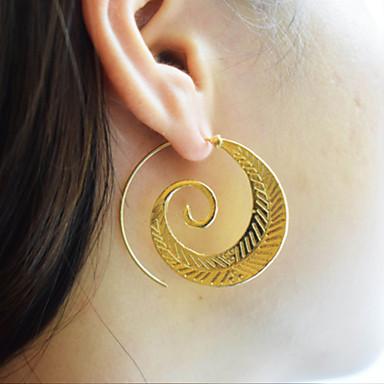 levne Dámské šperky-Dámské Náušnice - Kruhy Twist Circle Vintage Módní Náušnice Šperky Zlatá / Stříbrná Pro Párty Dar Denní Večerní oslava Street Bar