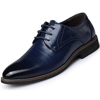 Hombre Zapatos Cuero de Napa Primavera / Verano / Otoño Confort Oxfords Marrón Claro / Los zapatos de cuero QeuM6