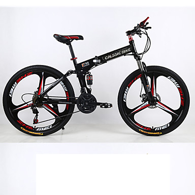 cheap Bikes-Mountain Bike / Folding Bike Cycling 21 Speed 26 Inch / 700CC SHIMANO Double Disc Brake Suspension Fork Rear Suspension Ordinary / Standard Aluminium Alloy / Steel