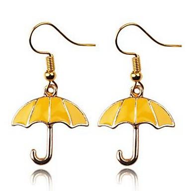 levne Dámské šperky-Dámské Visací náušnice Deštník dámy Jednoduchý Náušnice Šperky Zlatá Pro Denní Jdeme ven 2pcs