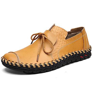 b955c2f6a4f Hombre Zapatos Cuero Otoño   Invierno Confort Calzado de Barco Negro    Marrón Claro   Morrón Oscuro 6451667 2019 –  34.99