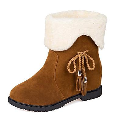 Mujer Zapatos Cuero Nobuck / Cuero Otoño / Invierno Confort / Botas de nieve Botas Tacón Plano Botines / Hasta el Tobillo Negro / Marrón yXzhfg3FLD
