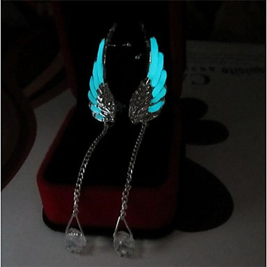 cheap Luminous Jewelry-Women's Drop Earrings Wings Angel Wings Ladies Fashion Luminous Earrings Jewelry Light Blue For Daily Bar 2pcs