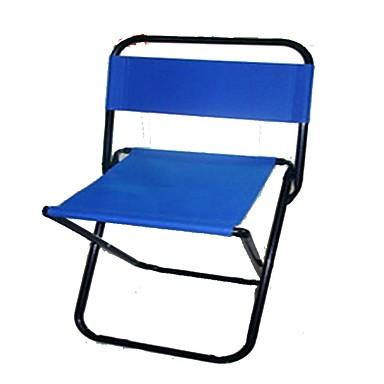 Καρέκλα παραλίας Πτυσσόμενη καρέκλα κάμπινγκ Πτυσσόμενο Αναδιπλούμενο Μεταλλικό Καμβάς για 1 άτομο Παραλία Κατασκήνωση Φθινόπωρο Άνοιξη Σκούρο μπλε