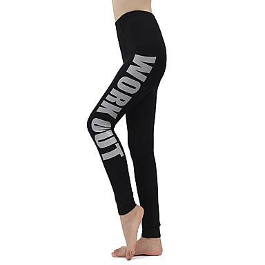 Mulheres Leggings de Corrida Esportes Calças Meia-calça Ioga Corrida Exercício e Atividade Física Esticar Sólido Branco Azul Cinzento Vermelho Rosa / Com Stretch