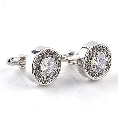 voordelige Herensieraden-Manchetknopen Formeel Klassiek Modieus Kristal Broche Sieraden Wit Paars Voor Dagelijks Formeel