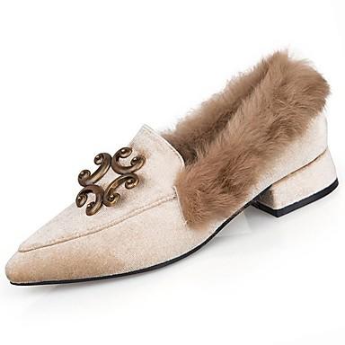 d83fe7fbb Mulheres Sapatos Couro Ecológico Inverno Conforto Saltos Sem Salto Ponta  Redonda para Ao ar livre Preto Bege de 6426695 2019 por $22.99