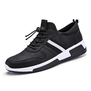 Hombre Zapatos Goma / Tul Primavera / Otoño Confort / Suelas con luz Zapatillas de deporte Paseo Negro / Negro / blanco yK07VSWI3c