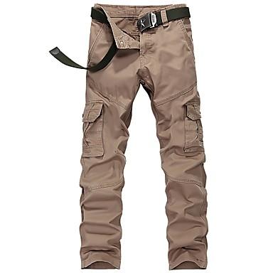 Ανδρικά Pantaloni de Drumeție Παντελόνια με τσέπες Χειμώνας Εξωτερική Φορέστε Αντίσταση Βαμβάκι Παντελόνια Πεζοπορία Υπαίθρια Άσκηση Πολυάθλημα Χακί Τ M L XL XXL