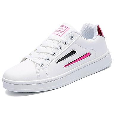 Mujer Zapatos PU microfibra sintético Primavera / Otoño Zapatos con luz Zapatillas de deporte Dedo redondo Negro l09hHDQPs