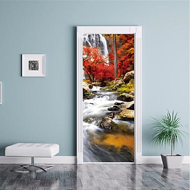 [$26.39] Paesaggi Pittoresco Adesivi murali Adesivi 3D da parete Adesivi  decorativi da parete Adesivi per porte, Carta Vinile Decorazioni per la