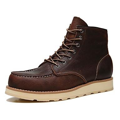 Ανδρικά Fashion Boots Μετάξι / Νάπα Leather Φθινόπωρο / Χειμώνας Μπότες Μποτίνια Μαύρο / Καφέ / ΕΞΩΤΕΡΙΚΟΥ ΧΩΡΟΥ / Μπότες Μάχης
