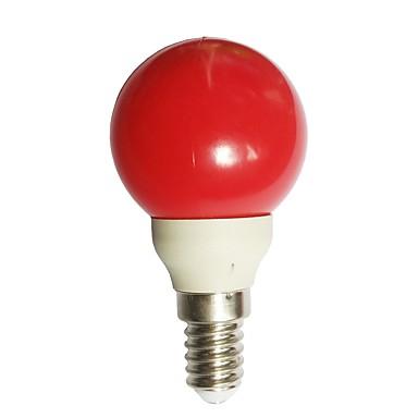 1pc 0.5 W LED Λάμπες Σφαίρα 15-25 lm E14 G45 7 LED χάντρες Dip LED Διακοσμητικό Κόκκινο 100-240 V / RoHs