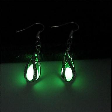 preiswerte Luxus Schmuck-Damen Tropfen-Ohrringe Tropfen damas Modisch leuchtend Ohrringe Schmuck Leicht Grün Für Klub Bar 2pcs