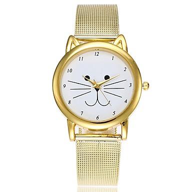 levne Dámské-Dámské Hodinky na běžné nošení Módní hodinky Unikátní Creative hodinky Křemenný Zlatá Voděodolné Chronograf Hodinky na běžné nošení Analogové Na běžné nošení Vánoce - Zlatá Jeden rok Životnost baterie