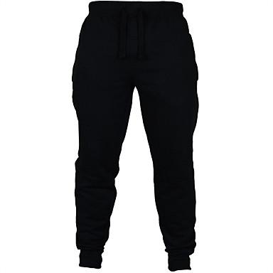 Ανδρικά Pantaloni de Alergat Αθλητικά παντελόνια Track Pants Βαμβάκι Αθλητισμός Χειμώνας Παντελόνια Φούστες Τρέξιμο Ψάρεμα Καθημερινά Ταξίδι Για Υπαίθρια Χρήση Ζεστό Φανέλα με επένδυση Μονόχρωμο