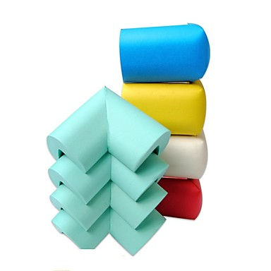 4pcs παιδική ασφάλεια μαλακό προστατευτικό κάλυμμα γωνιακό κάλυμμα κάλυψη παιδιών anticolision ramdon χρώμα