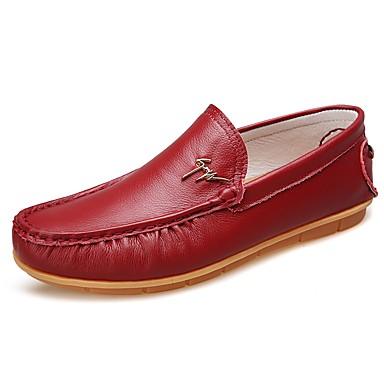 Hombre Zapatos Tejido Primavera / Otoño Confort Zapatos de taco bajo y Slip-On Negro / Gris / Rojo yVVCy8rW