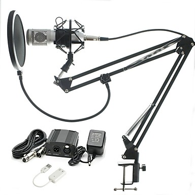 KEBTYVOR BM-800 Wired Microphone Sets Condenser Microphone Voiles & Sheers For PC