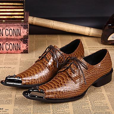 Ανδρικά Τα επίσημα παπούτσια Νάπα Leather Άνοιξη / Φθινόπωρο Oxfords Καφέ / Πάρτι & Βραδινή Έξοδος / Πάρτι & Βραδινή Έξοδος / Παπούτσια άνεσης