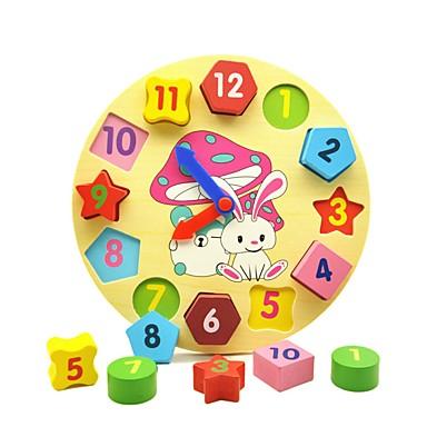 Ξύλινο παιχνίδι ρολογιών Χρόνος διδασκαλίας ρολογιού Εκπαιδευτικό παιχνίδι ξύλινος Εκπαίδευση Geometric Παιδικά Αγορίστικα Κοριτσίστικα Παιχνίδια Δώρο