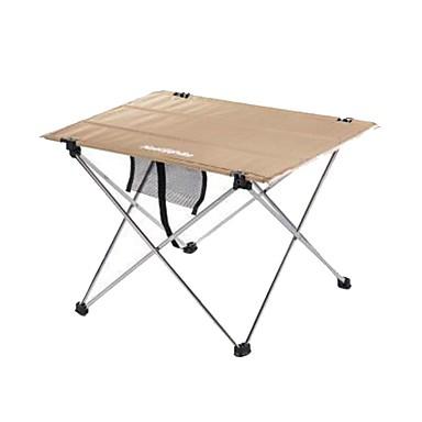 Τραπέζι κάμπινγκ Φορητό Πτυσσόμενο Μικρού μεγέθους Ανθεκτικό Κράμα αλουμινίου για 2 άτομα Κατασκήνωση & Πεζοπορία Κυνήγι Ψάρεμα Παραλία Φθινόπωρο Άνοιξη Μαύρο Καφέ