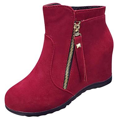 5dfce8c92e Mulheres Sapatos Micofibra Sintética PU Inverno Botas da Moda Botas Sem  Salto Ponta Redonda Botas Cano Médio Pérolas para Casual Preto de 6452871  2019 por ...