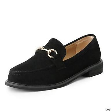 Mujer Zapatos Ante Verano Confort Zapatos de taco bajo y Slip-On Tacón Bajo Punta cerrada Negro / Marrón r40hc4