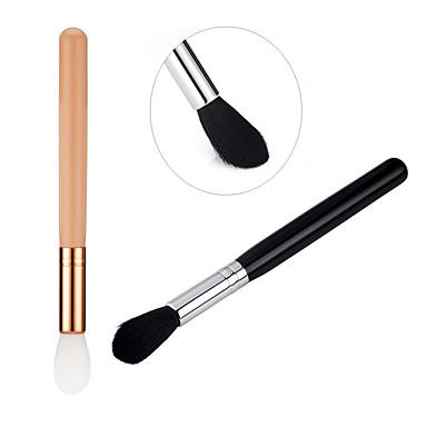 Profissional Pincéis de maquiagem Pincel para Blush 1pç Amiga-do-Ambiente Profissional Macio Escova de Cabelo de Cabra Madeira / alumínio Pincéis de Maquiagem para